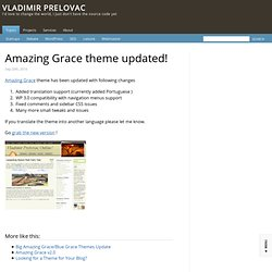 Amazing Grace theme updated!