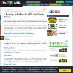 6 Amazing Health Benefits of Kratom Powder