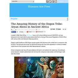 The Amazing History of the Dogon Tribe: Aryan Aliens in Ancient Africa