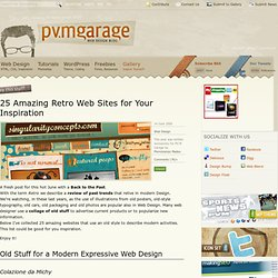 25 Amazing Retro Web Sites for Your Inspiration