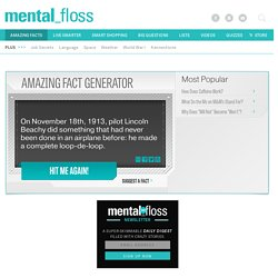 Amazing and Interesting Facts Generator