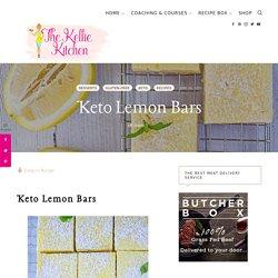 AMAZING Keto Lemon Bars ~ 3g net carb per bar ~ Sweet & Tart