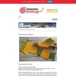 Amazing Knitting: Two Needle Socks Knit Pattern