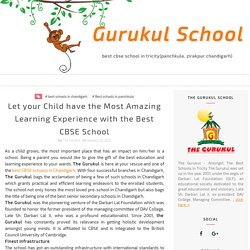 Amazing Learning Experience with the best CBSE School in Chandigarh