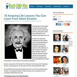 10 Amazing Life Lessons You Can Learn From Albert Einstein - by
