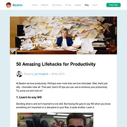 50 Amazing Lifehacks for Productivity