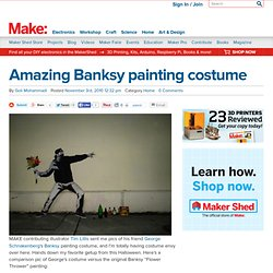 Amazing Banksy painting costume