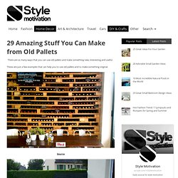 29 Amazing Stuff You Can Make from Old Pallets | Style Motivation