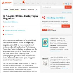 40 Amazing Online Photography Magazines
