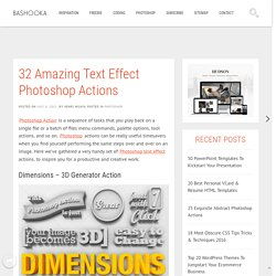 32 Amazing Text Effect Photoshop Actions