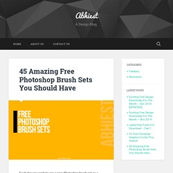 45 Amazing Free Photoshop Brush Sets You Should Have