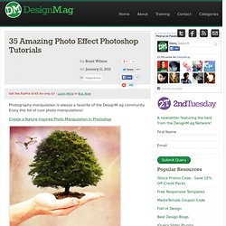 35 Amazing Photo Effect Photoshop Tutorials - Web Design Blog – DesignM.ag
