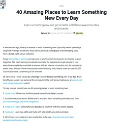 40 great websites where you can learn something new every day