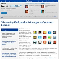 15 amazing iPad productivity apps you've never heard of