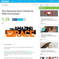 The Amazing Race Checks In With Foursquare
