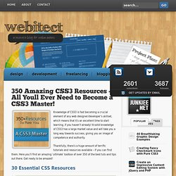 350+ Amazing CSS3 Resources – All You'll Ever Need to Become a C