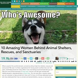 10 Amazing Women Behind Animal Shelters, Rescues, and Sanctuaries
