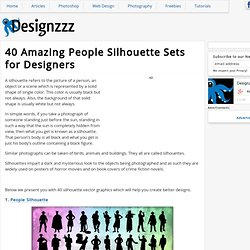 40 Amazing People Silhouette Sets for Designers