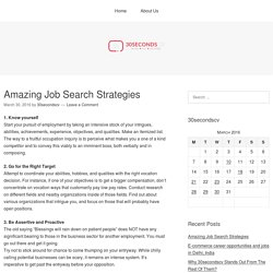 Amazing Job Search Strategies – 30secondscv.com