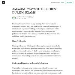 AMAZING WAYS TO DE-STRESS DURING EXAMS - Ruby Park Public School - Medium