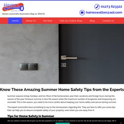 Know These Amazing Summer Home Safety Tips from the Experts