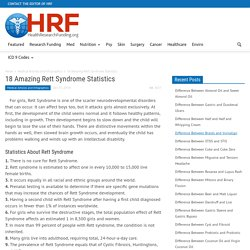 18 Amazing Rett Syndrome Statistics