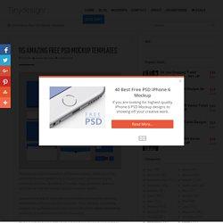 135 Amazing Free PSD Mockup Templates