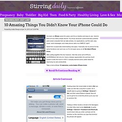 10 Amazing Things You Didn't Know Your iPhone Could Do