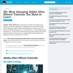 50+ Most Amazing Adobe After Effects Tutorials You Need to Learn | Naldz Graphics