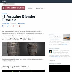 47 Amazing Blender Tutorials