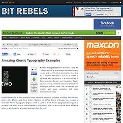 Amazing Kinetic Typography Examples