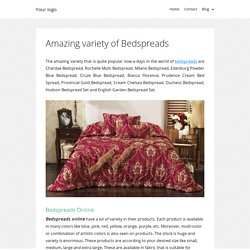 Amazing variety of Bedspreads