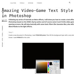 Video-Game Text Style