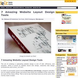 7 Amazing Website Layout Design Tools -