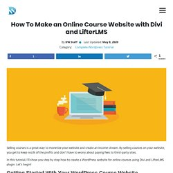 How To Make An Amazing Online Course Website With Wordpress