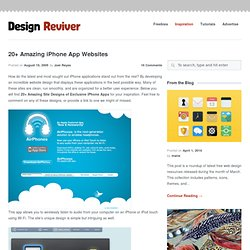 20+ Amazing iPhone App Websites