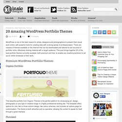 20 Amazing WordPress Portfolio Themes