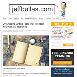 20 Amazing Writing Tools That Will Rock Your Content Marketing