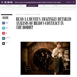 Read a Lawyer's Amazingly Detailed Analysis of Bilbo's Contract in The Hobbit