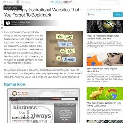 7 Amazingly Inspirational Websites That You Forgot To Bookmark