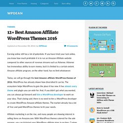 12+ Best Amazon Affiliate WordPress Themes 2016 - WPDean