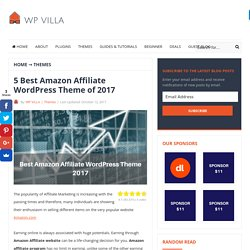 5 Best Amazon Affiliate WordPress Theme of 2017