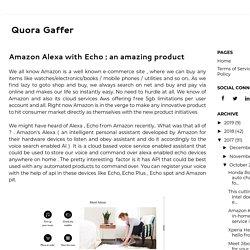 Amazon Alexa with Echo : an amazing product