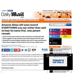 Amazon's Alexa WILL listen to everything you say