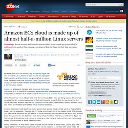Amazon EC2 cloud is made up of almost half-a-million Linux servers