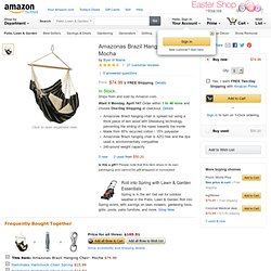 Amazonas Brazil Hanging Chair- Mocha: Patio, Lawn & Garden