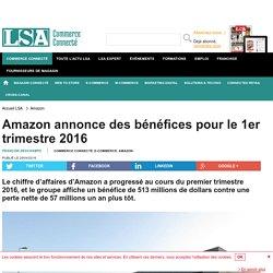 Amazon annonce des bénéfices pour le 1er...