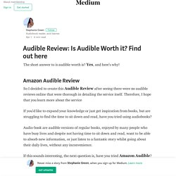 Amazon Audible Review—Is Audible Worth it? Find out more.