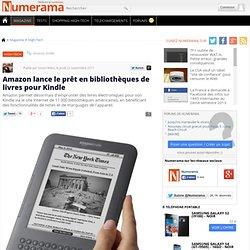 Amazon lance le prêt en bibliothèques de livres pour Kindle