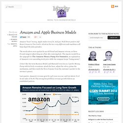 Amazon and Apple Business Models